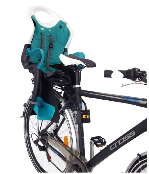 Детско столче за велосипед произведено в Италия от 100% сертифицирана нетоксична пластмаса