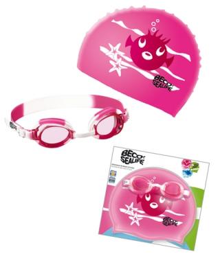 ed13b805c05 ... Комплект плувни очила и шапка BECO 96059